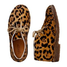 Girls' Collection leopard MacAlister boots  Warner NEEDS these