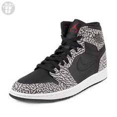 Nike Jordan Men's Air Jordan 1 Retro High Black/Gym Red/Cmnt Grey/Anthracite Basketball Shoe 13 Men US (*Amazon Partner-Link)