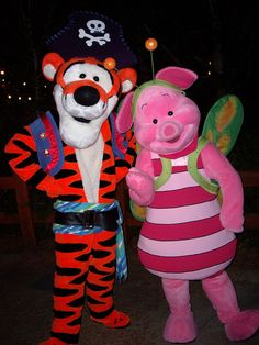 Pirate Tigger and Butterfly Piglet