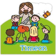 Super leuk naambordje met Jezus omringt door kinderen. Gekregen ter ere van Timeon zijn geboorte.  In stijl van prentenboek Zing Maar Mee. Peanuts Comics