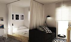 Sypialnia w salonie | Make Home Prettier
