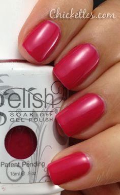 Gelish Gossip Girl Color Swatch. kinda loving this color! pretty for summer.