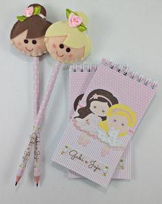 KIT 1 Bloquinho + 1 Ponteira com lápis