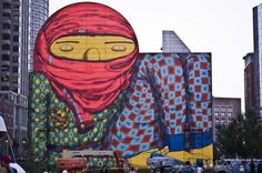 Mural from Os Gemeos in Boston