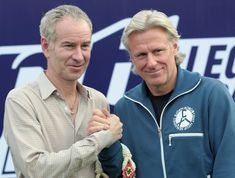 Tennis greats McEnroe and Borg, 2010
