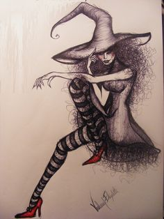 evil witch drawing - Google Search