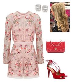 """""""Untitled #1025"""" by lovelifesdreams on Polyvore featuring Needle & Thread, Chanel, Aquazzura and Ross-Simons"""