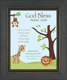 BAPTISM personalized Gift Gift for Godson by KreationsbyMarilyn, $15.00