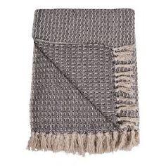 Worchester Blanket Beachcrest Home Plaid, Faux Fur Throw, Macrame Knots, Coron, Herringbone Pattern, Shabby, Knitted Hats, Blanket, Knitting