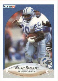 1990 Fleer #284 Barry Sanders DETROIT LIONS  NFL Football Card #DetroitLions