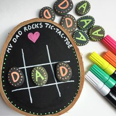 I've always been a fan of handmade gifts, especially from kids, and this easy tic-tac-toe game is the perfect DIY Father's Day Gift.