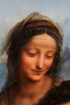 """""""Sant'Anna"""" di Leonardo da Vinci dopo il restauro, particolare"""