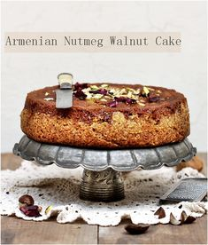 Armenian Nutmeg Walnut Cake from @Deeba Rajpal
