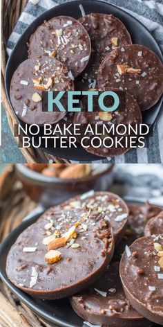 Keto No Bake Almond Butter Cookies are the perfect low carb snack at just net carbs per cookie! These no bake treats are perfect for keto meal prep! Low Carb Desserts, Low Carb Recipes, Health Desserts, Keto Postres, Almond Butter Cookies, Recipes With Almond Butter, Almond Butter Snacks, Almond Flour Brownies, Homemade Almond Butter