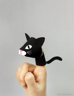 Animal finger puppets / Mr Printables #kids #make #craft #printable #cat