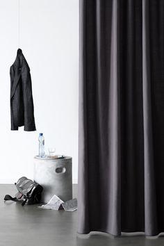 Charcoal grey - beautiful drapes from Vadain