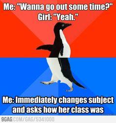 Goals, video games, and games: start doing yogaat bfsapartment feelin like girlfriend goals You Funny, Really Funny, Funny Jokes, Funny Images, Best Funny Pictures, Funny Pics, Funny Stuff, Socially Awkward Penguin, Penguin Meme
