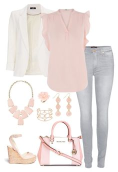 """""""Untitled #99"""" by barnabygirl ❤ liked on Polyvore featuring MICHAEL Michael Kors, Dettagli, Wallis, Jimmy Choo, 7 For All Mankind, Oasis, Alexis Bittar and Kendra Scott"""