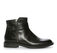 Nilson Shoes Kängor och Boots VAGABOND, AMINA ZIPPER Skinn Svart