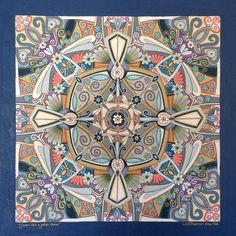 Mandala art by South African artist Lize Beekman. www.artlizebeekman.com