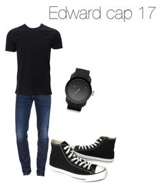 """Edward cap 17 MIG"" by raianabela2014 ❤ liked on Polyvore featuring Dsquared2, Converse, Diesel, men's fashion and menswear"