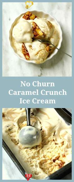 no churn caramel crunch ice cream no churn caramel crunch ice cream<br> A luscious velvety Ice Cream with shards of crunchy caramel this Caramel Crunch Ice Cream is a must make for the summer! As impressive as it is easy! Healthy Food Habits, Healthy Diet Recipes, Gourmet Recipes, Dessert Recipes, Eating Healthy, Easy Recipes, Healthy Living, Gluten Free Ice Cream, Caramel Crunch