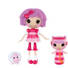 Mini Lalaloopsy Pillow Featherbed and Mini Lalaloopsy Littles Blanket Featherbed Dolls with Pet