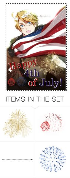 """Happy Fourth of July!"" by carebear-chan ❤ liked on Polyvore featuring art, anime, Hetalia, independenceday, APH and aphamerica"