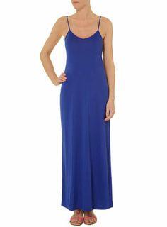 Cobalt cami maxi dress