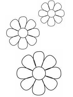 Daisy templates, 3 sizes