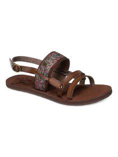 Elias - ROXY Roxy Sandalen für Frauen  Die Elias sind Teil der Roxy Spring/Summer Footwear Collection 2015. Diese Sandalen für Frauen zeichnen sich durch Obermaterial aus mehreren Synthetikstreifen und ein Roxy Metallherz aus. Weitere besondere Features sind: EVA Fußbett mit Prägemuster und Obermaterial aus 96,5% PU/3,5% Metall, Innenfutter: 100% Polyester, Außensohle: 100% TPR.  Merkmale:...