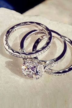 18 Tacori Engagement Rings You'll Never Forget ❤ See more: http://www.weddingforward.com/tacori-engagement-rings/ #weddings