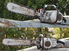 Motosierra Eléctrica Stihl - Vintage/Old Electric Stihl Chainsaw Small Chainsaw, Power Saw, E30, Wood Cutting, Old School, Outdoor Power Equipment, Electric, Tools, Weird