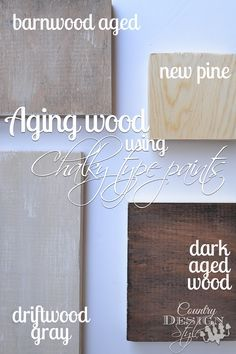 DIY Simple tip to age wood to barnwood shades using chalk paint!