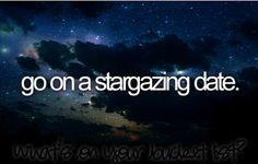 Bucketlist: Go on a stargazing date