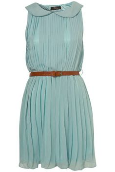 pleated shift dress by Rare