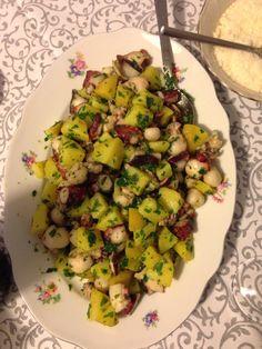 Insalata di patate e calamaretti