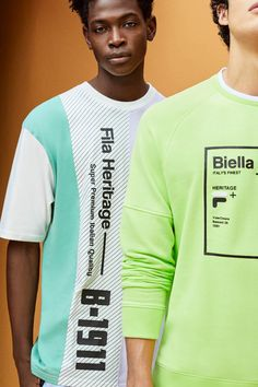 FILA Releases Nostalgia-Inspired Collection for Moda Junior, Fridah Kahlo, Streetwear, Shell Suit, Lookbook, Tee Design, Apparel Design, Casual T Shirts, Stylish Men
