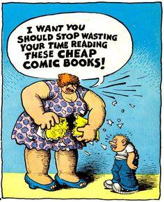 "cryptofwrestling: ""Bad ol' comic books by Robert Crumb. Robert Crumb, Zap Comics, Fritz The Cat, Alternative Comics, Illustration, Comic Artist, Comic Books Art, Book Art, Cartoon Art"