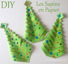 Fabrique des Sapins en papier (DIY facile et rapide!) - Allo Maman Dodo
