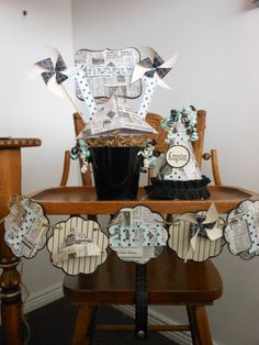 Vintage Newspaper 1st Birthday Party Pacakge by ASweetCelebration, $269.00