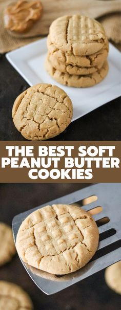 These Peanut Butter cookies are the easiest cookies ever! They are delicious, flavorful and only take a handful of ingredients! Homemade Peanut Butter Cookies, Peanut Butter Recipes, Sugar Cookies Recipe, Dessert Recipes, Bar Recipes, Yummy Recipes, Yummy Food, Desserts, Amazing Cookie Recipes
