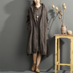 Autumn/Winter Loose Two-Piece Cotton Dress