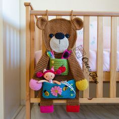 Teddy Bear Organizer  PDF Crochet Pattern  Instant Download