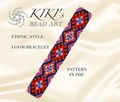 Bead loom pattern - Ethnic style - LOOM bracelet PDF pattern instant download