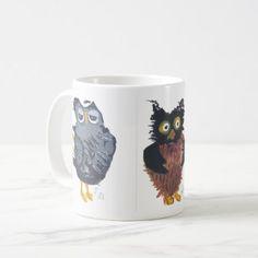 Owls Mug - home gifts ideas decor special unique custom individual customized individualized
