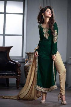 Green Velvet Designer Salwar Suit