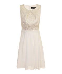 Cream+jacquard+dress+by+Little+Mistress+on+secretsales.com
