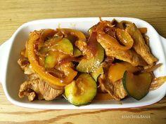 Dwaejigogi bokkeum – maiale in padella con verdure e salsa piccante