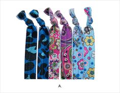 Assorted Prints Knotted Hair Ties - A - Ultra comfortable hair ties in beautiful modern prints. #janetran #hairties #ponytails